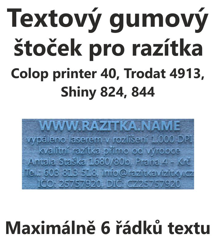 Štoček do razítka Colop printer 40, trodat 4913